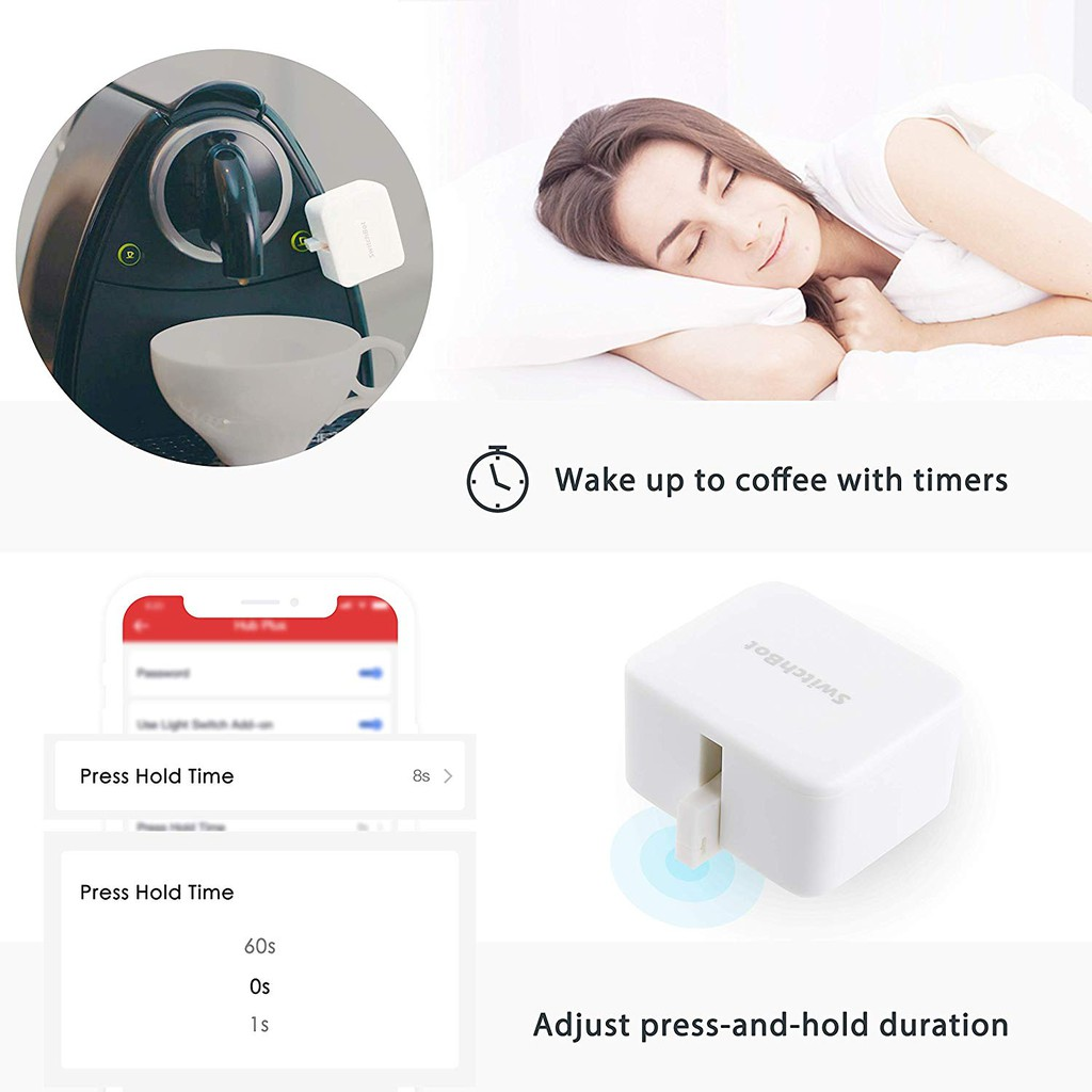 Wonderlabs Switchbot S1 smart switch button with timer app controlled wifi switch DIY tools SwitchBot with a Hub compatible with Alexa, Google Home, IFTTT