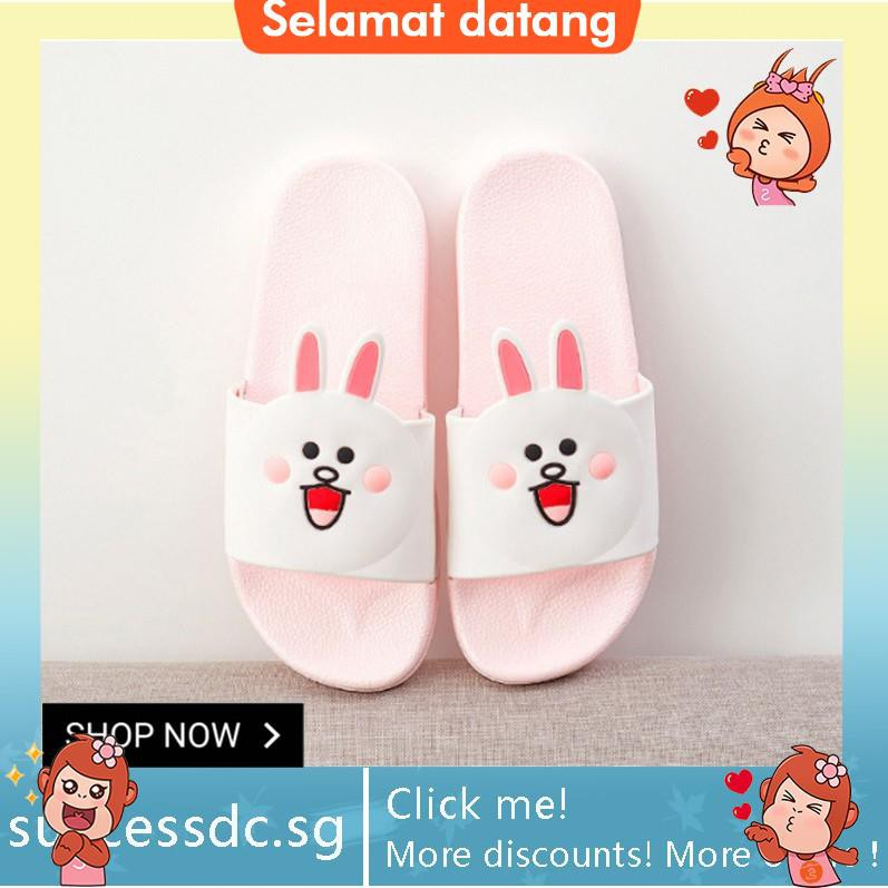 951f351cf3f Lovely bear rabbit slippers and slippers
