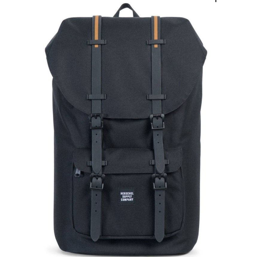 b32a5eeca8a  INSTOCK  Herschel Little America Full Volume - Black Black Rubber Gum 25L    Shopee Singapore