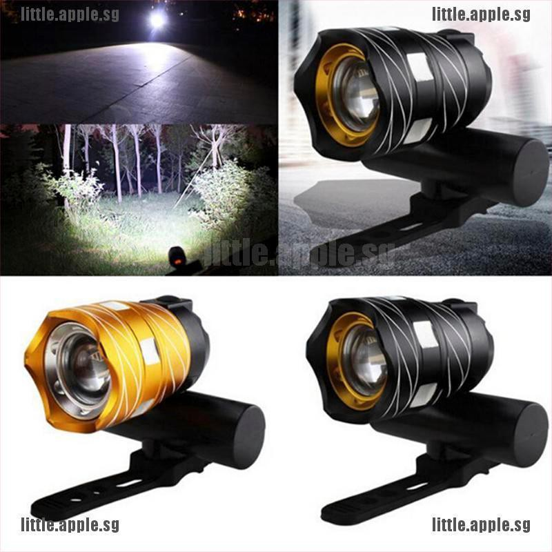 USB Rechargeable T6 LED MTB Bicycle Light Mountain Bike Front Headlight Black