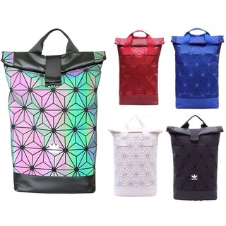Original AD x Issey Miyake 3D Urban Mesh Roll Up Black Backpack Bag Double  Hand 040980ef6d207