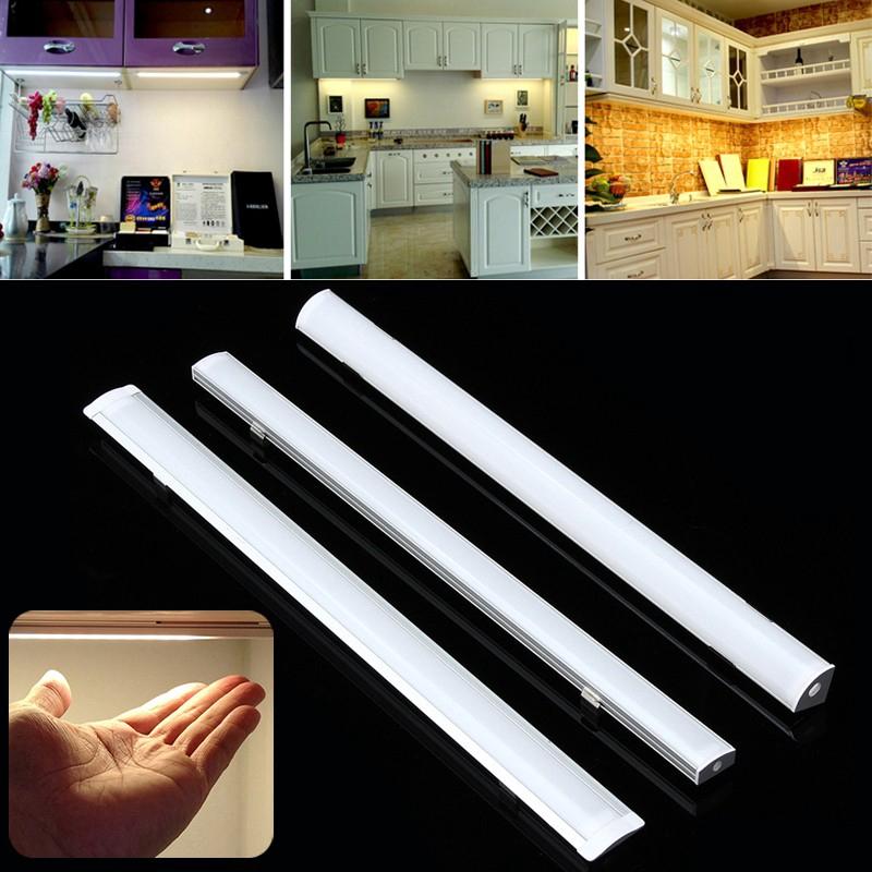 LED Strip Lights LED Bars Holder U/V/YW Aluminum LED Strip Light Bar Channel Holder Cover Up To 30/50cm Under Cabinet Lamp LED Strip Lights Holder