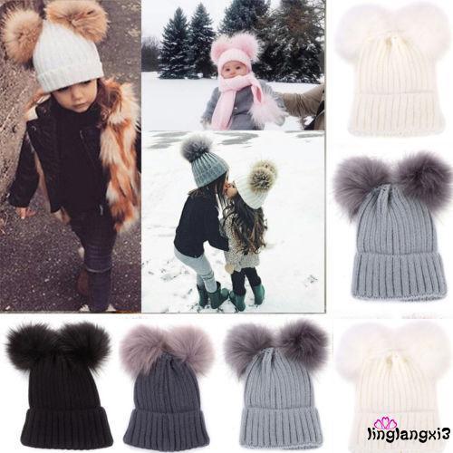 fcc8d24c0551c1 ASL-Warm Hat Newborn Baby Kids Boy Girl Knit Beanie Hat Fur Pom Crochet Cap  Hot | Shopee Singapore