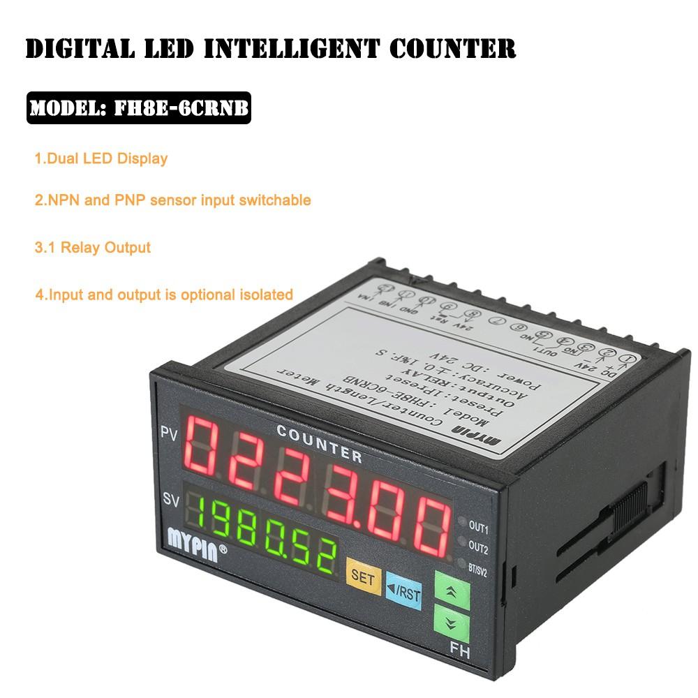 MYPIN Multi-functional Intelligent 24V DC Preset 6 Digital Counter ...