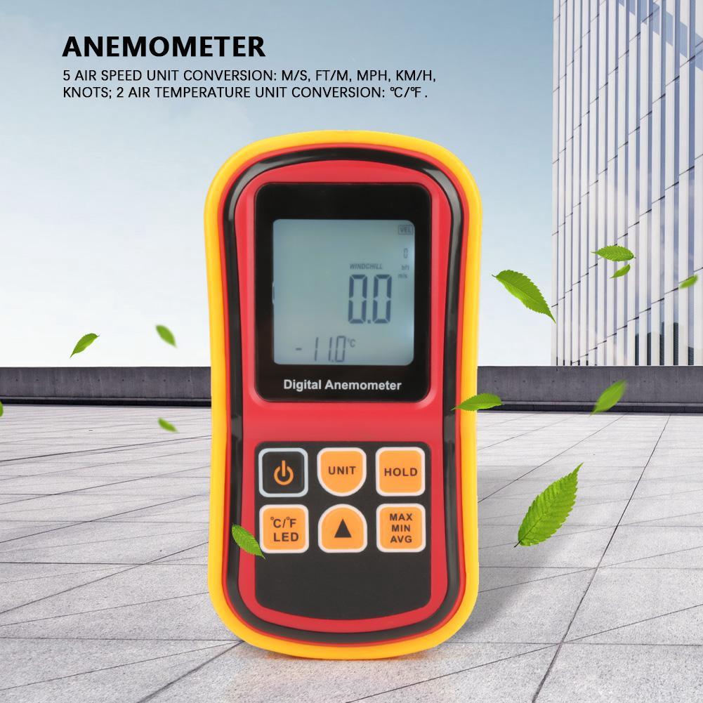 GM8901 Handheld LCD Digital Anemometer Air Speed Tester