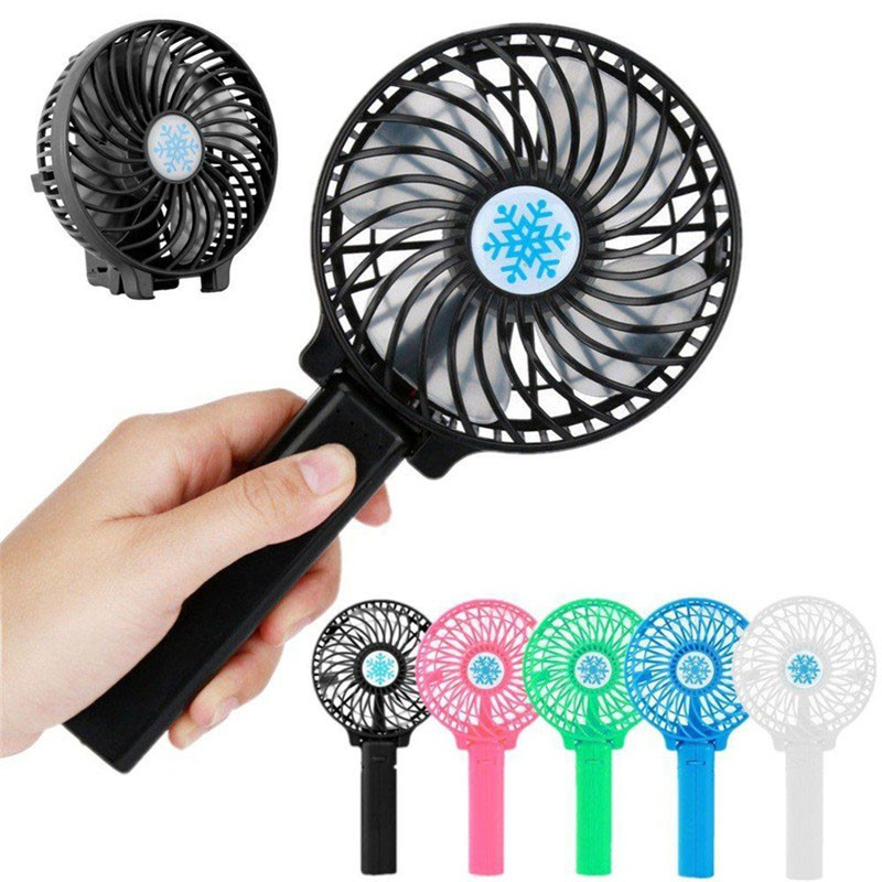 Cool Air Travel Fan Mini Coolers Handheld Powered Mini USB Fan Foldable Ventilation Air Conditioning,A