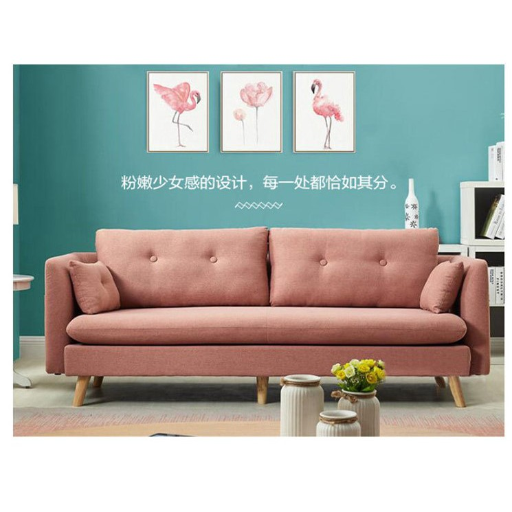 Free Delivery 3 Seater Nordic Design Home Living Sofa Bed Sofa