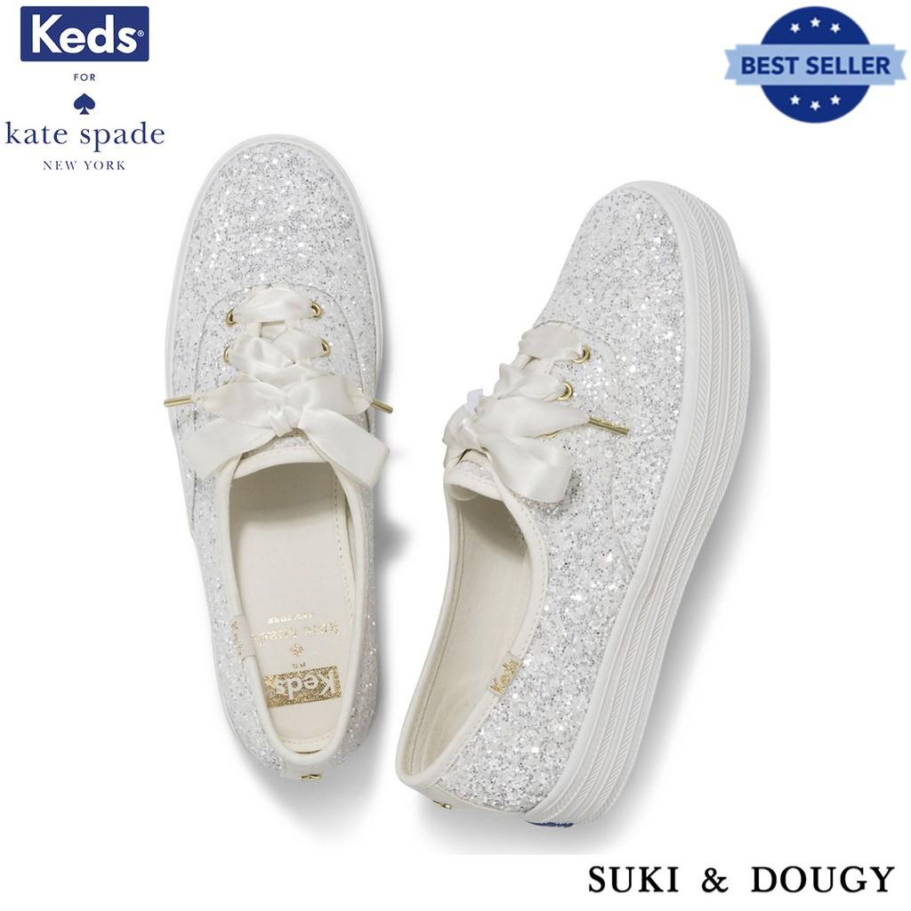 11114f7b1378  KEDS X Kate Spade New York  100% AUTHENTIC TRIPLE GLITTER WEDDING Sneakers