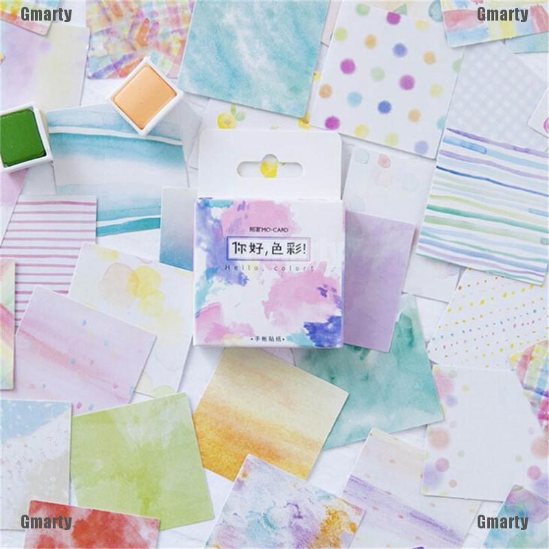 45Pcs//Box Hello Color Paper Lable Sticker Diy Scrapbooking Diary Album/_Stickers//