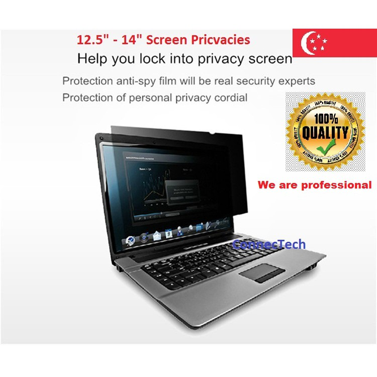 12 5 inch (16:9) and 14 inch (16:9) Screen Privacy Filter