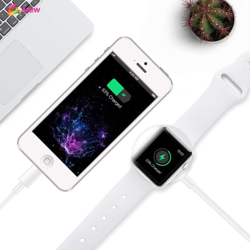 Ready Stock Fast Smart Watch Wireless Charger For Apple Watch USB For  iPhone 7 8 X ACEW