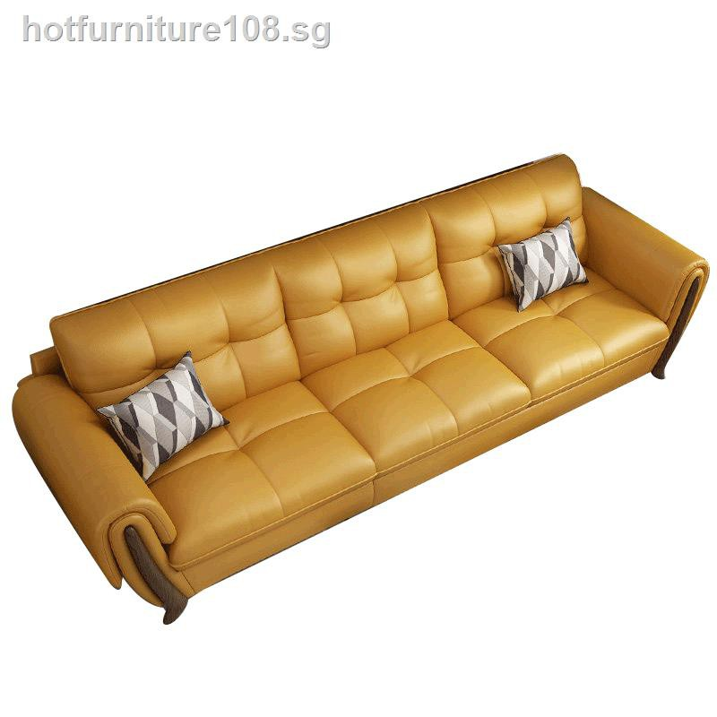 Nordic Leather Sofa Living Room Full Of