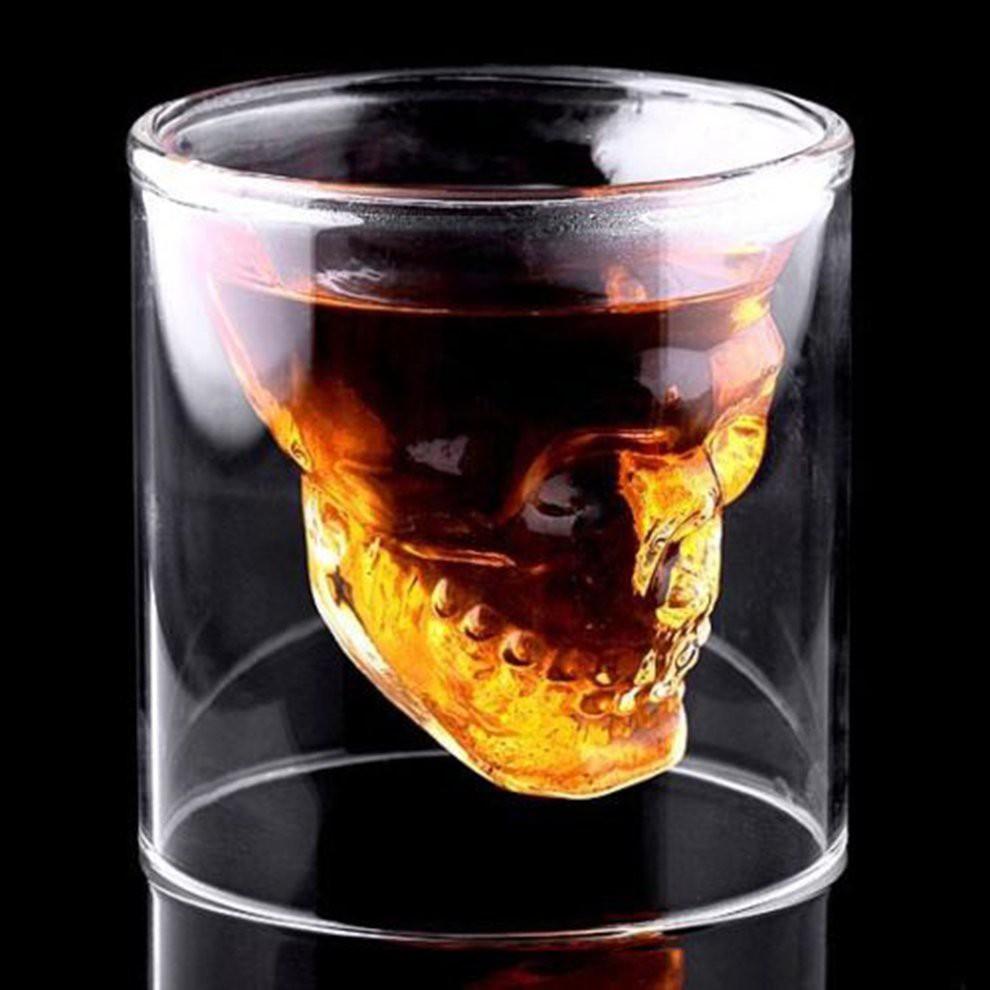 Hotpro Cool Skull Head Shot Glass Creative Designer Party Wine Cup Drinkware Shopee Singapore