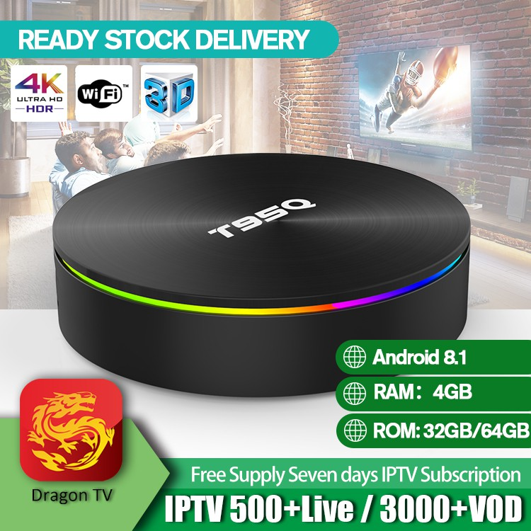 T95Q Android 8 1 TV Box S905X2 4GB 64GB Smart Media Player Support Wifi  Blutooth