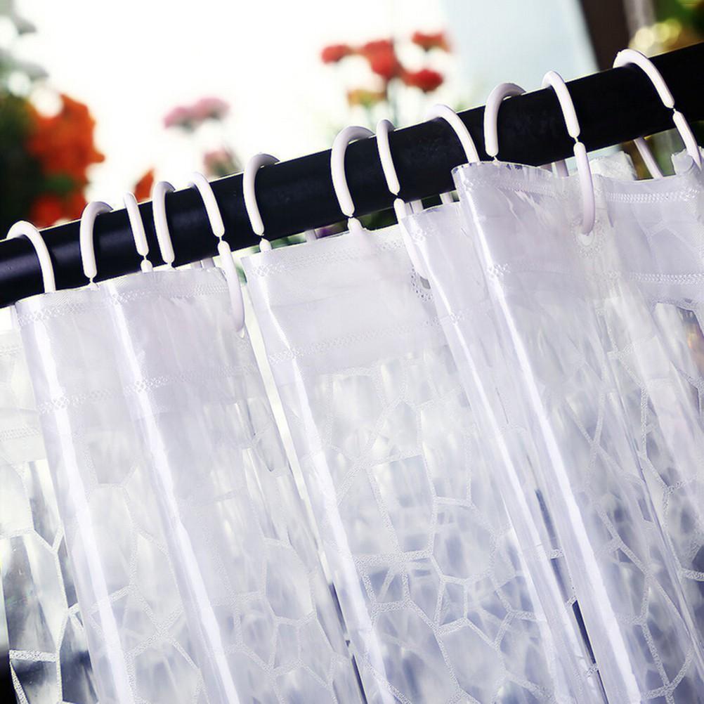 72 Inch Shower Curtain Transparent 3D Water Cube Design Bathroom Waterproof EVA
