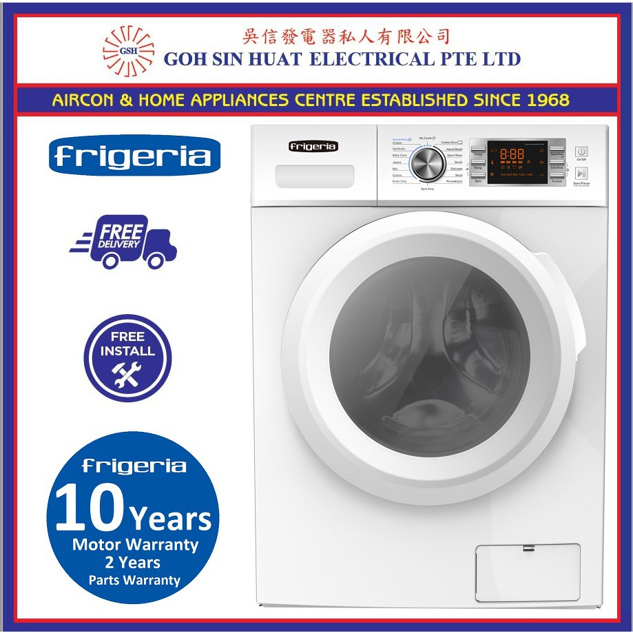 Image result for Frigeria FW7888 Front Load Washing Machine  shopee.sg