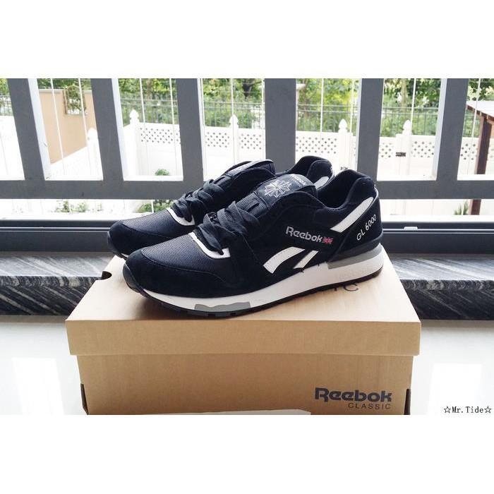 41de3347c31 Original Reebok Reebok GL6000 Black and White V44751 Men s and Women s Shoes  36