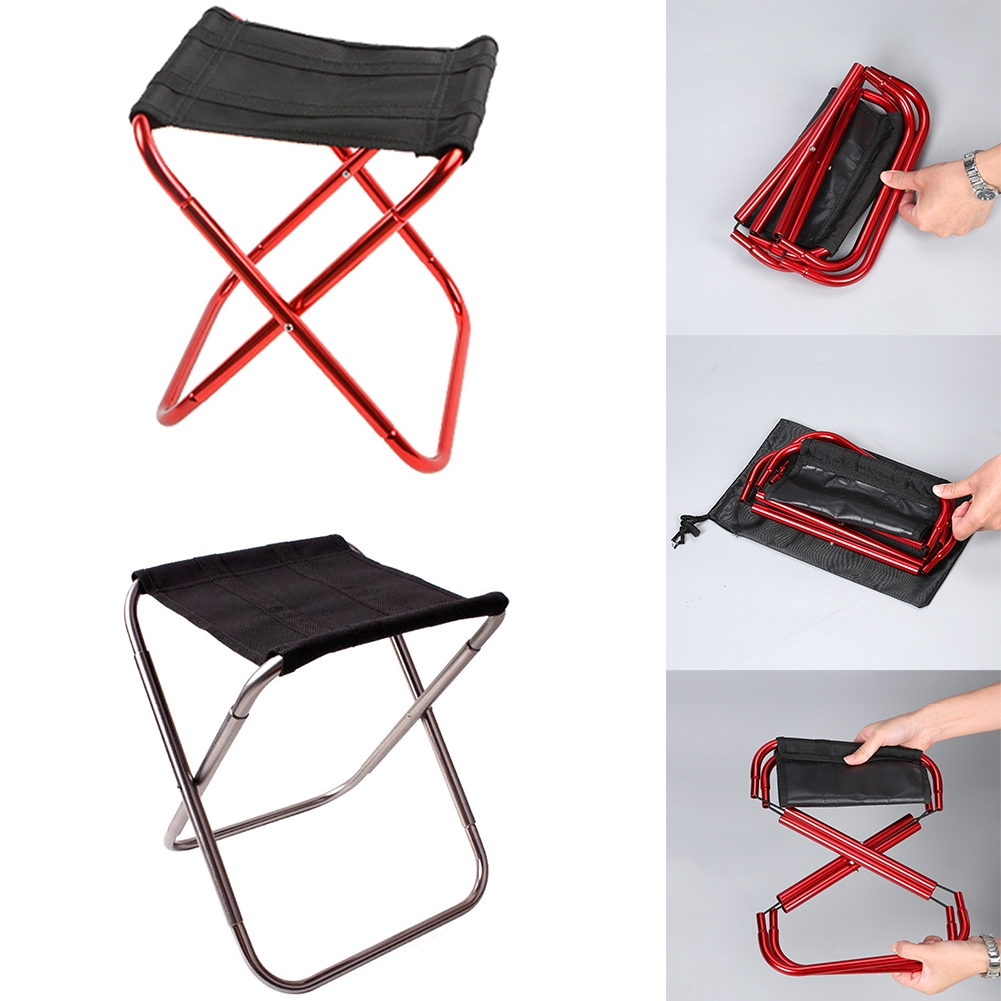 Small Flip Fishing Camp Travel Portable Picnic Folding Seat Stool Chair Outdoor