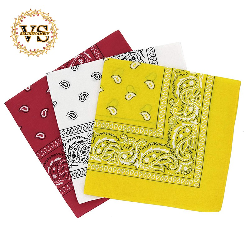 Pack Of 3 Paisley Design Bandanas Black Grey And White BEST DEAL