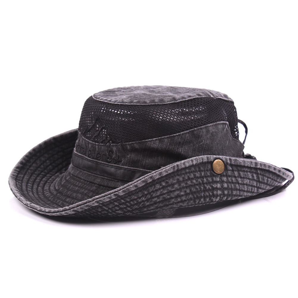 0c746d50 Mens Womens Wide Brimmed Bucket Hat Fishing Boonie Outdoor Cap Visor Sun  Hats | Shopee Singapore