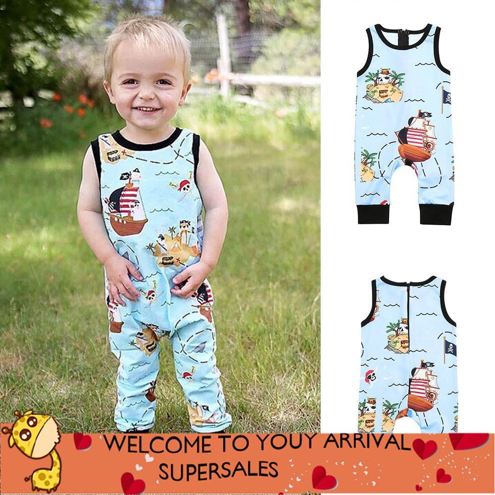 Boys' Clothing Radient 2019 New Summer Toddler Baby Boy Clothes Set Cartoon Shark Sleeveless Vest Tops+shorts Casual Kid Baby Boy Clothing Sunsuit