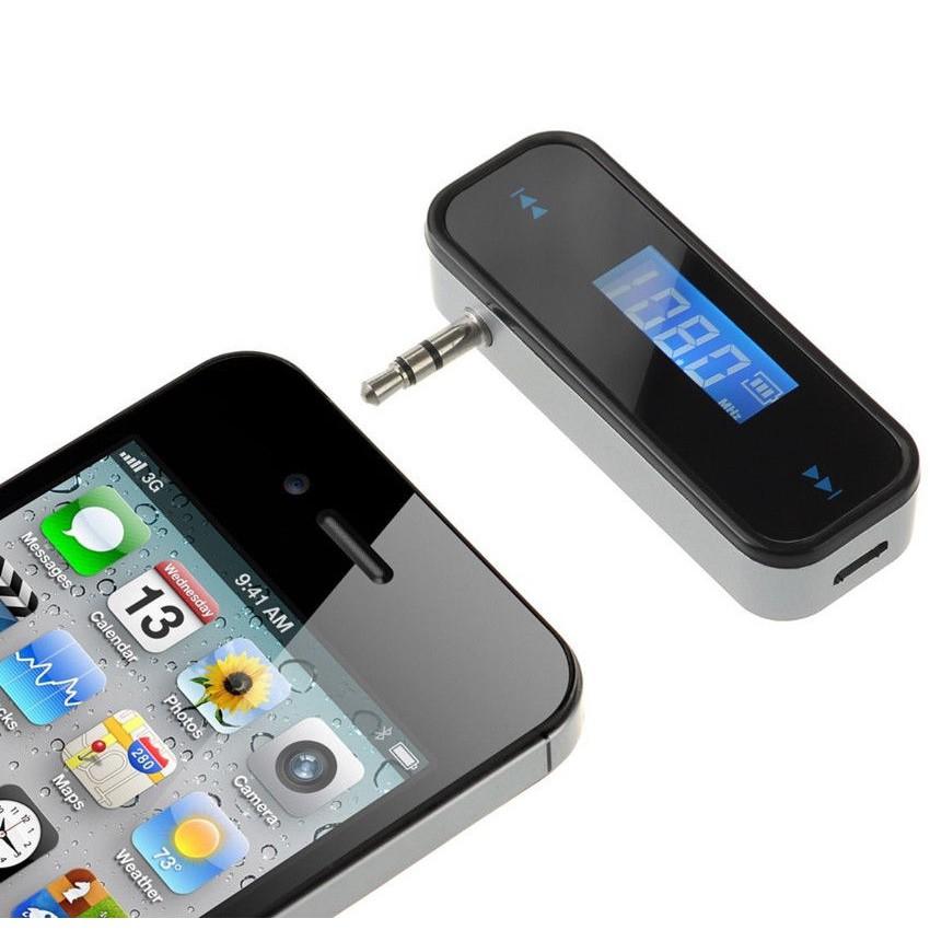 Wireless 3 5mm In-Car FM Radio Transmitter For iPhone iPod Samsung Galaxy  MP3 lg