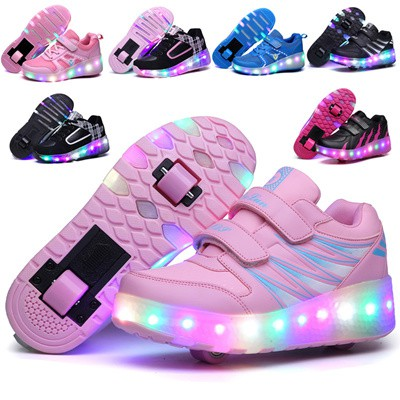 Children Led Roller Skate Shoes With Wheels Kids Sports Skate Shoes Shopee Singapore