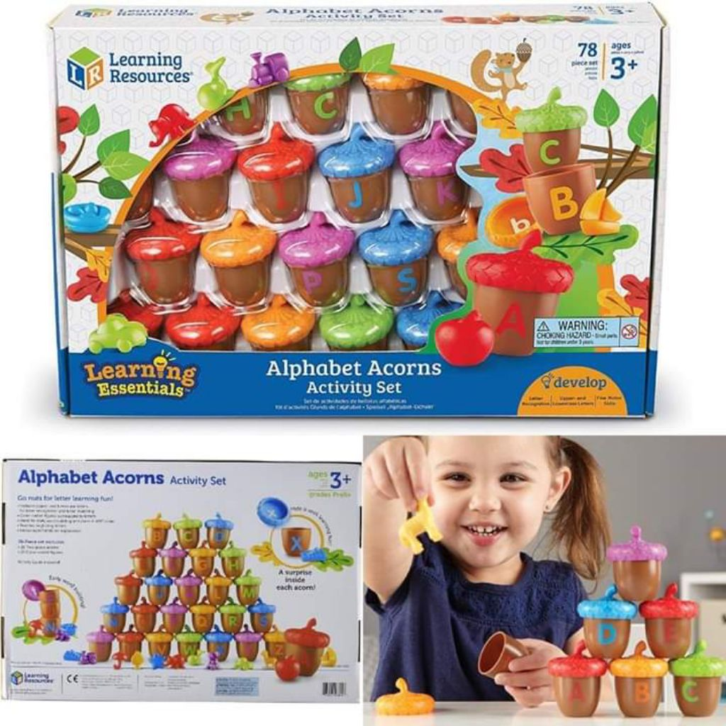 Learning Resources Learning Essentials Alphabet Acorns Activity Set NEW