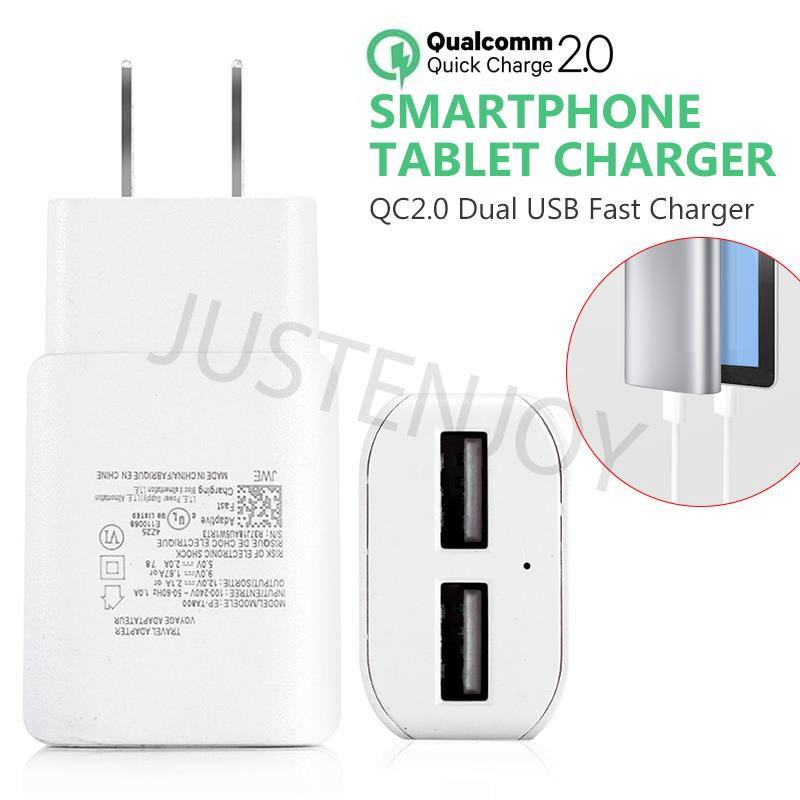 🎁(Flashing Sale) 2 Port Fast Charger Universal Quick QC 2.0 Smartphone | Shopee Singapore