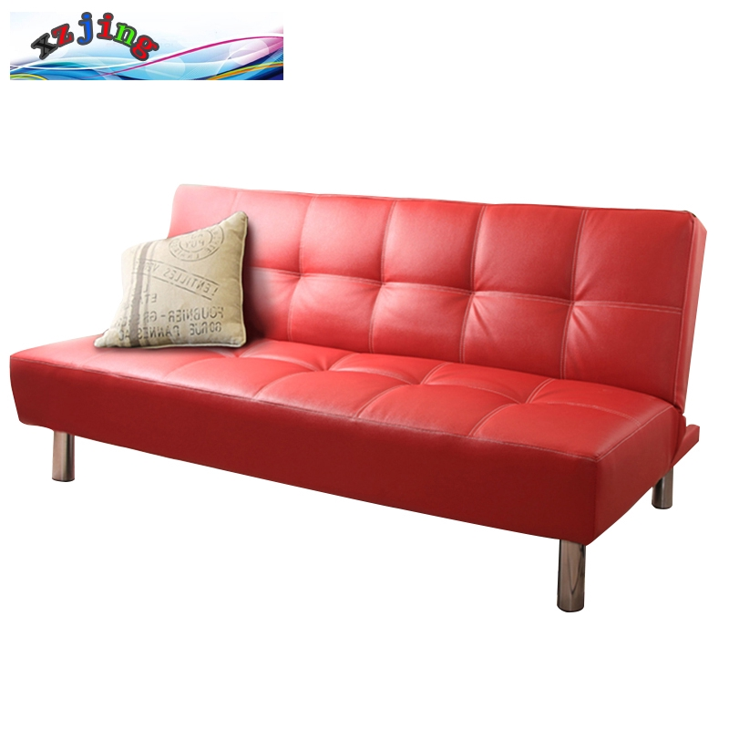 Fashion Leather Art Sofa Bed Solid Wood