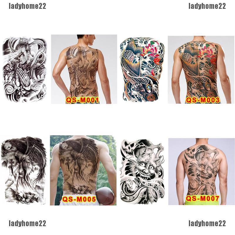 Ldhuge Design Full Back Temporary Tattoo Large Body Art Waterproof Stick Shopee Singapore