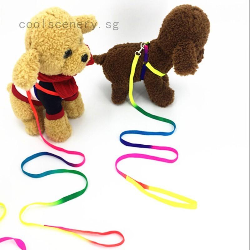 Training Dog Pet Puppy Cat Adjustable Nylon Harness Lead leash Traction rope