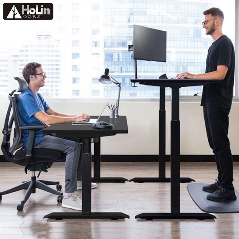Study Table Bedroom Black Modern Wooden Mobile Computer PC Home Office Desk