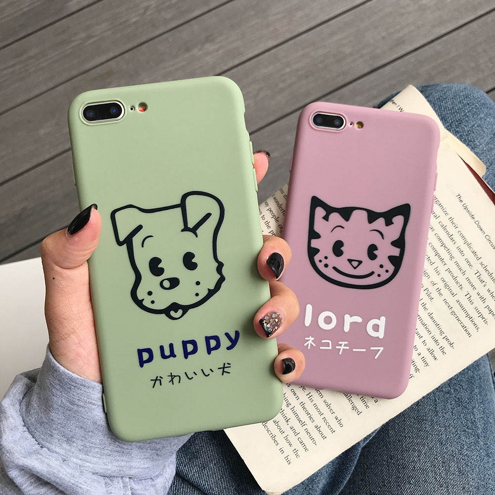 OPPO A73 F5 R15 A57 A3 A39 R9 Plus R9 R9S R11 Cute Cartoon Case Cat And Dog