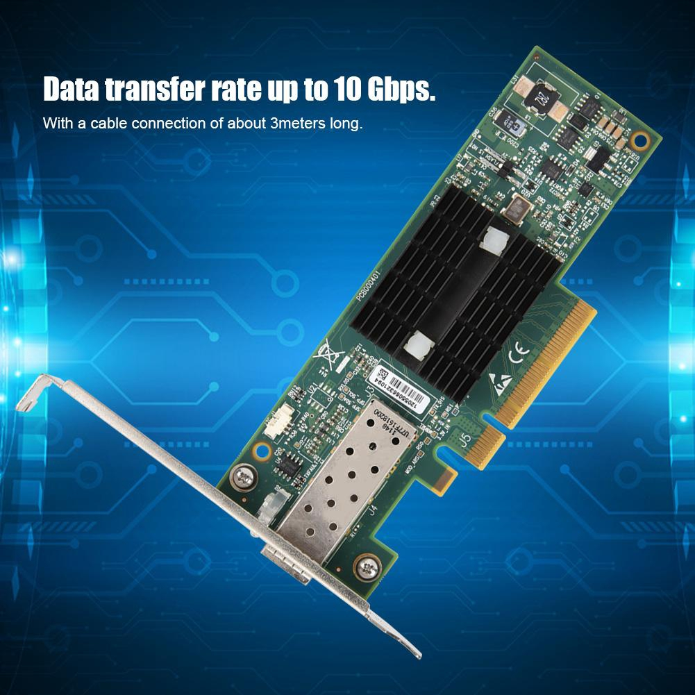 MNPA19-XTR 10GB MELLANOX CONNECTX-2 PCIE X8 10Gbps SFP Network Card /& Cable Kit
