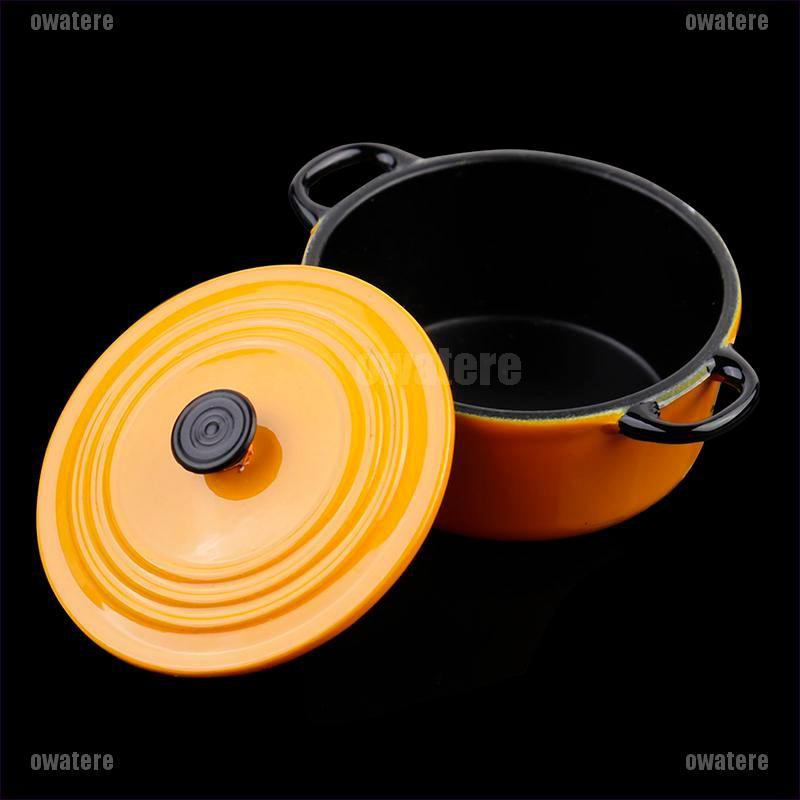 34*17mm 1:12 Dollhouse Miniature Kitchen Cooking Ware Pot Boiler Pan Toy ~GN