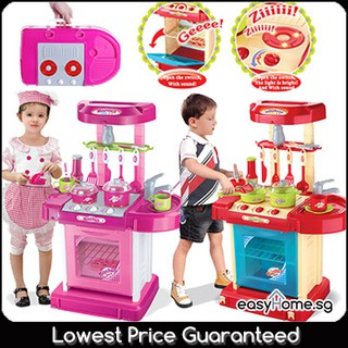 Play Kitchen Set Pink 008 58 Red 008 58a Kids Baby