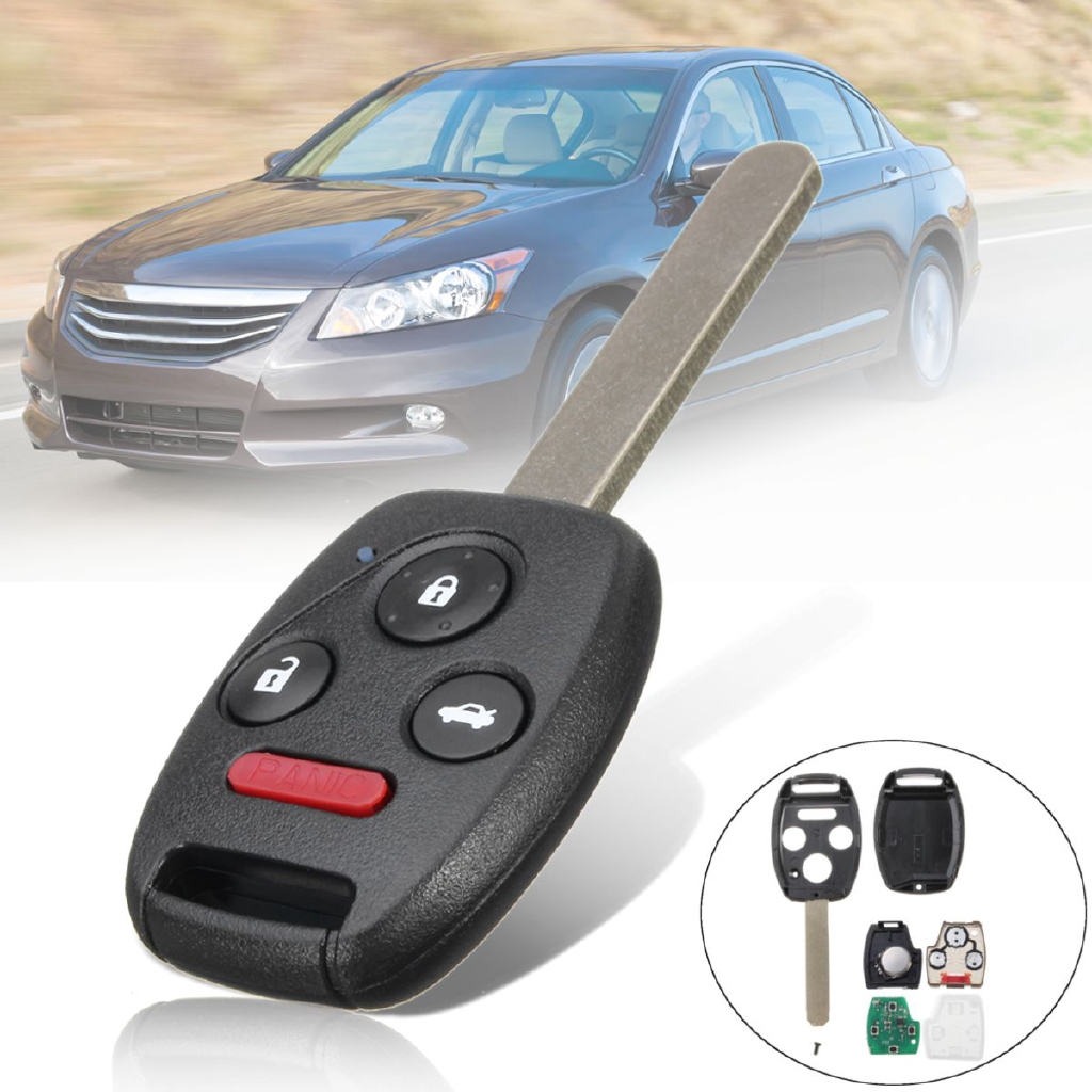 Case For Honda Accord Pilot KR55WK49308 Key Blanks 1 New Replacement Remote Key Fob Shell Ignition Systems