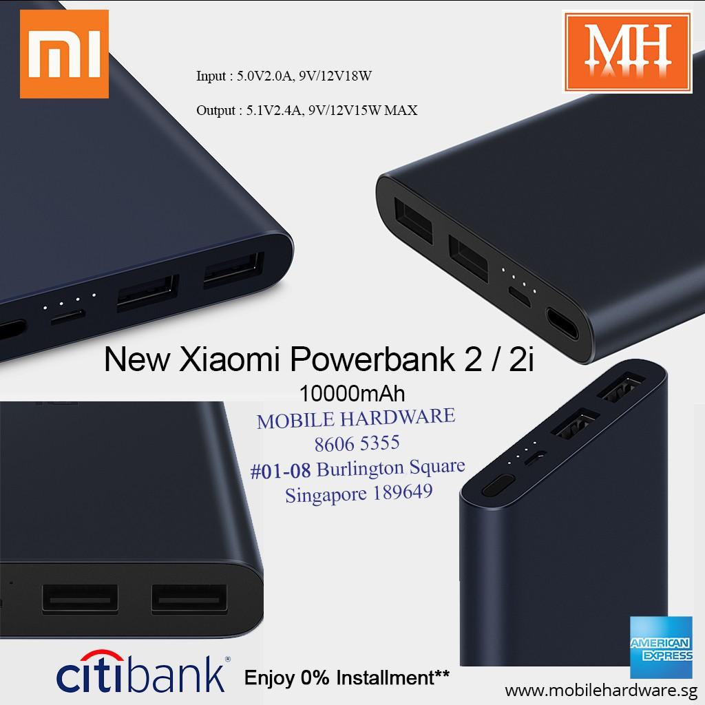 Xiaomi 10000mah Powerbank 2 New Version Usb Ports Shopee Singapore Official