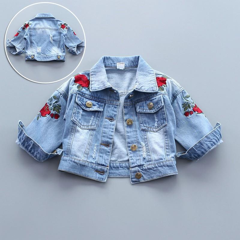 8b7437971 Newborn Baby Coat Girl Denim Jacket Jacket Children s Clothing