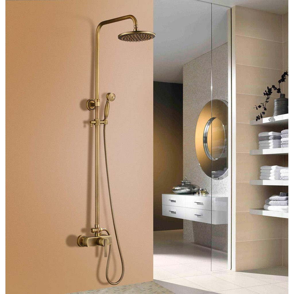 Vintage Bathroom High Pressure Top Sprayer Adjustable Rainfall Shower Head