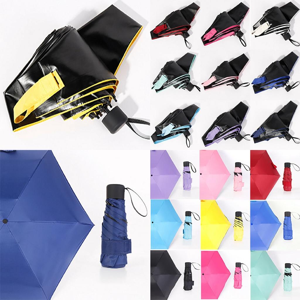 Rain Clear Umbrella UV Blocking Letters Parasol Compact Folding Umbrella Travel