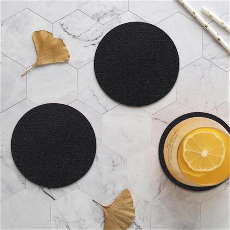 10pcs Round Felt Coaster Dining Table Protector Pad Heat Resistant Cup Mat Coffee Tea Hot Drink Mug Placemat Kitchen Accessories Shopee Singapore