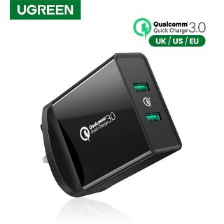 Usb Charger Ugreen Usb Plug 2 Port 17w 3 4a Mains Charger White Uk Plug Shopee Singapore
