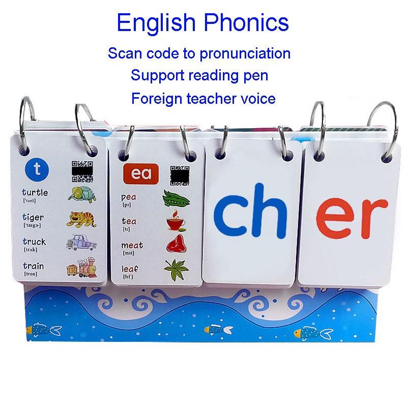 252PCS English Phonics Calendar Word Card Kids Toy Education