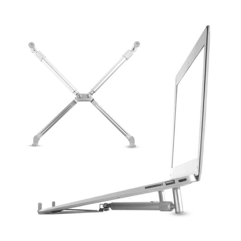 Ergonomic Laptop Cooling X-Stand Folding Portable Aluminium For Laptop 12-17 in