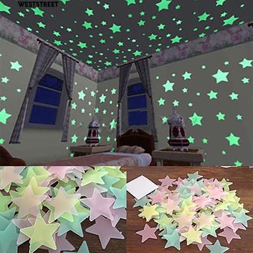 Dark Stars Ceiling Wall Stickers Cute