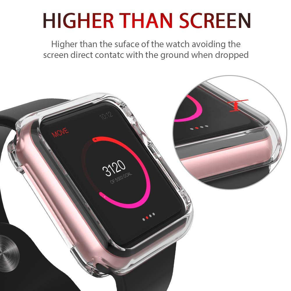 2Pcs Apple Watch i Watch Case TPU Case Screen Protector for