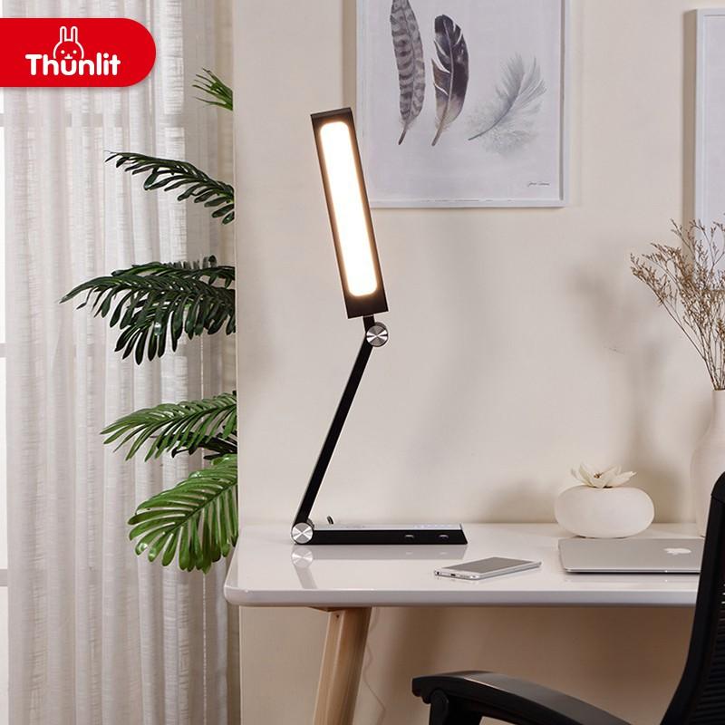 Thunlit 10w White Modern Table Lamps Black Modern Table Lamps For Study Bedroom Shopee Singapore