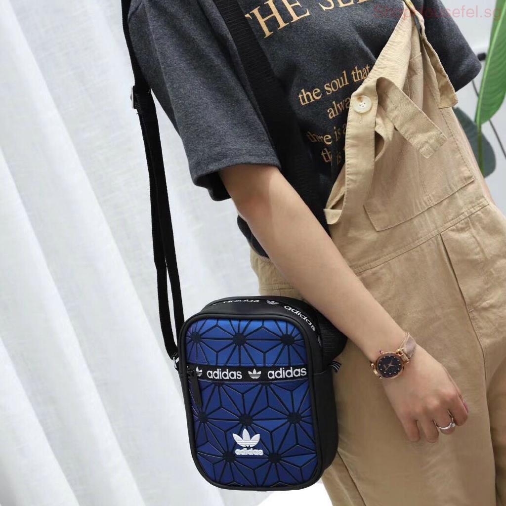 Adidas Men Women Fashion Shoulder Bag 3D Issey Miyake Sling Bag